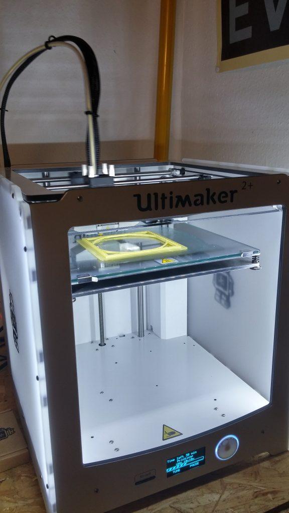 Bild eines Testdrucks mit dem neuen 3D-Drucker Ultimaker 2+