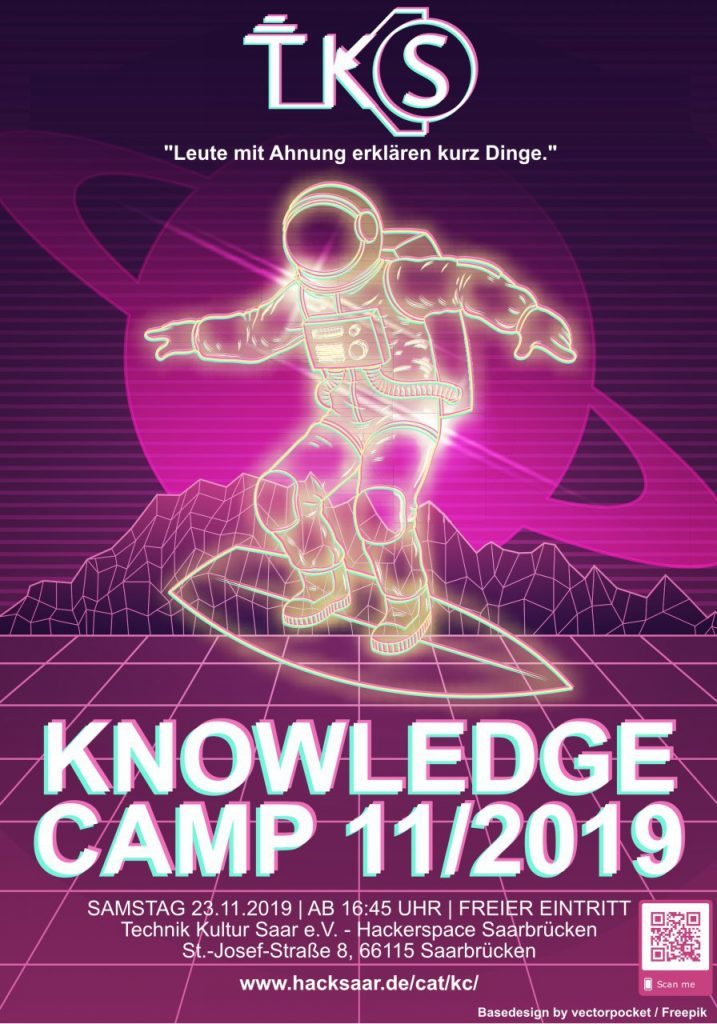 Flyer für Hacksaar Knowledge Camp 11/2019