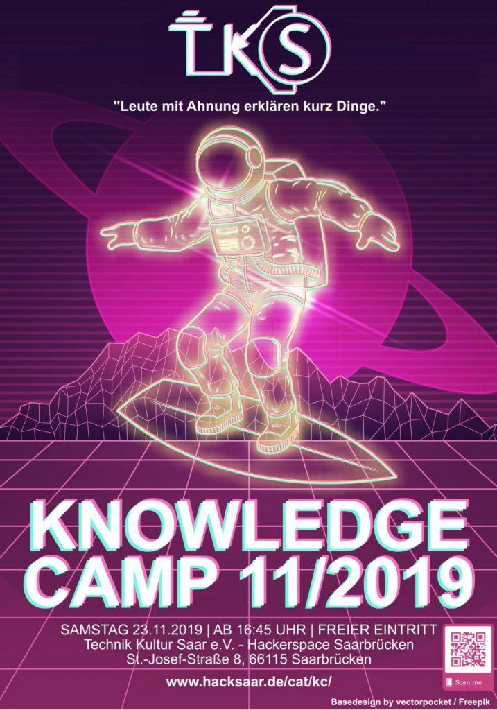 Flyer für Hacksaar Knowledge Camp 11/2019
