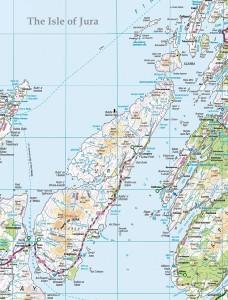 Karte der Insel Jura